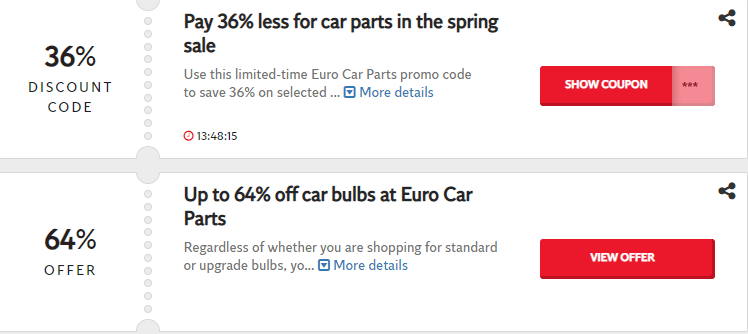 Euro Car Parts Bedford Offers and Coupons