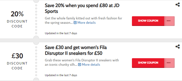 JD Sports Bedford Offers and Coupons