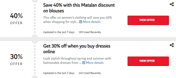 Matalan Bedford Offers and Coupons