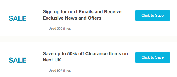 Next Bedford Offers and Coupons