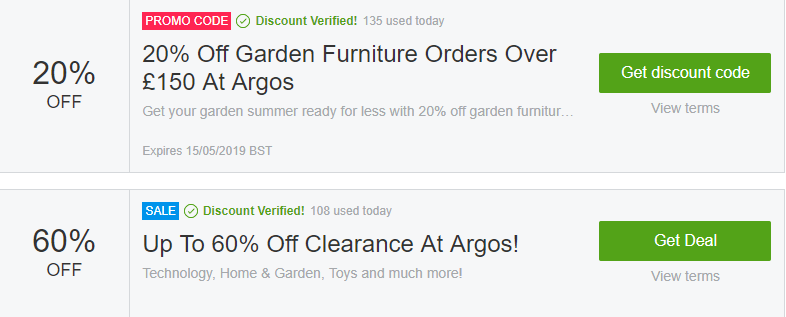 Argos Biggleswade Offers and Coupons