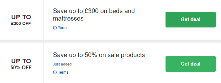 Bensons for Beds Biggleswade Offers and Coupons