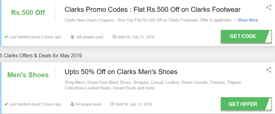 Clarks Dunstable Offers and Coupons