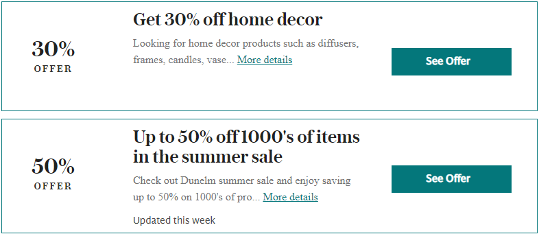 Dunelm Dunstable Offers and Coupons