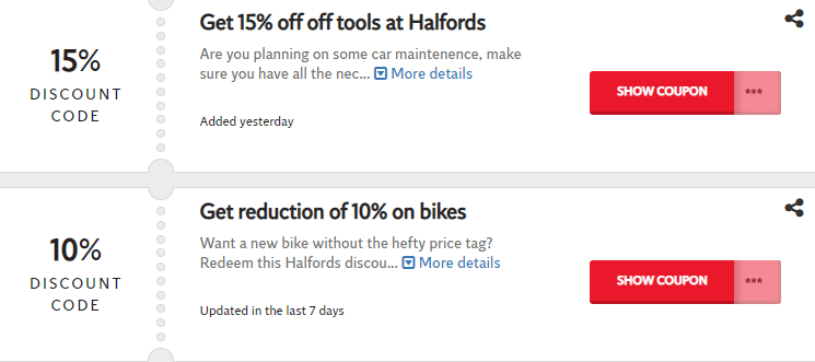 Halfords Biggleswade Offers and Coupons