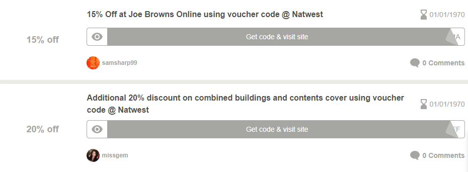 NatWest Bedford Offers and Coupons