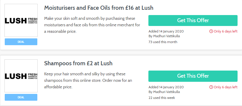 LUSH Luton Offers and Coupons